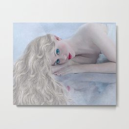 Go Rest High On That Mountain - female portrait painting Metal Print