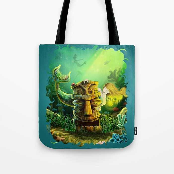 Encounter At The Cove Tote Bag