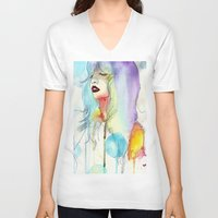 melissa smith V-neck T-shirts featuring Melissa Stastiuk by Bea Barnachea