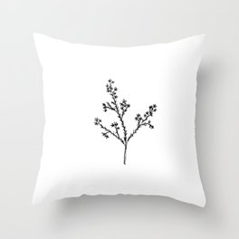 Wildflower in the Meadow Throw Pillow