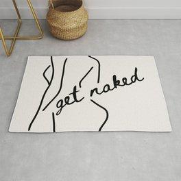 Get Naked Enjoy Life Rug