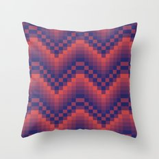 Pixelated Chevron Throw Pillow