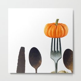 Eat Healthy with Pumpkin Metal Print