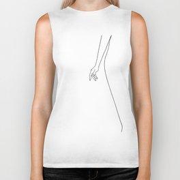Female body hand line drawing Biker Tank
