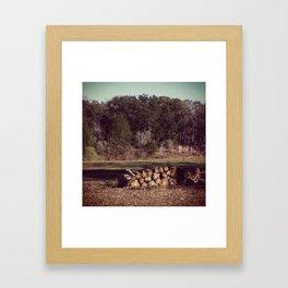 Ranch Firewood Framed Art Print