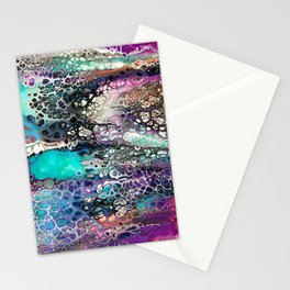 """Fluid Art Dimensions"" Stationery Cards"