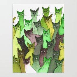Lebanon Many Whimsical Cats Poster
