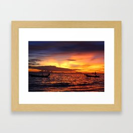 Thailand Sunset  Framed Art Print