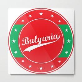 Bulgaria, circle, red Metal Print