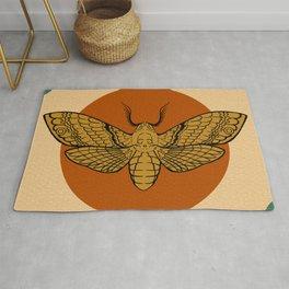 Vintage Death Head Moth Rug