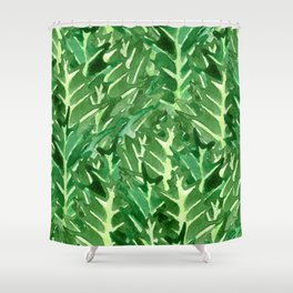 Holly Jolly Leaves (Large Pattern) Shower Curtain