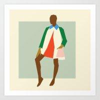 Fashion Dance 2 Art Print