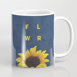 Concrete Sunflower Coffee Mug