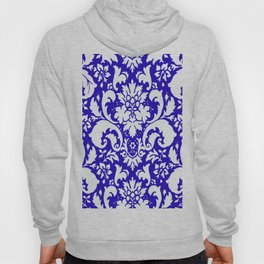 Paisley Damask Blue and White Hoody