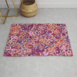 Abstract Shapes Colorful Art Retro Pattern Rug
