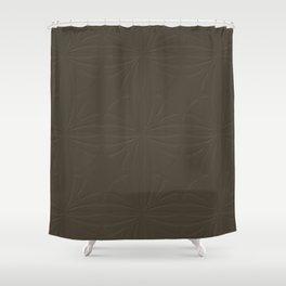 Deep Bronze Taupe Shower Curtain