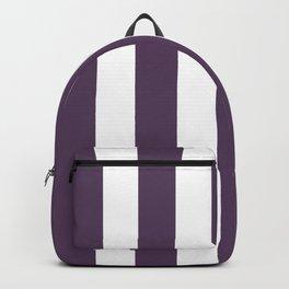 Old heliotrope violet - solid color - white vertical lines pattern Backpack