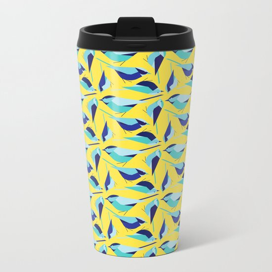 Birds Meeting Metal Travel Mug