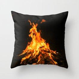 Bonfire (lohri) Throw Pillow