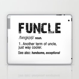 Funcle Fun Uncle Definition For Military Veterans Laptop & iPad Skin