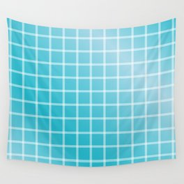 Ocean blue and white line art Wall Tapestry