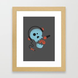 Calavera rockera / Rocking skull Framed Art Print