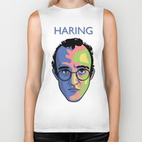 keith haring Biker Tanks featuring Haring by guissëpi