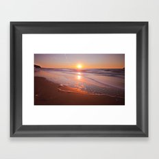 Sunrise Waves Framed Art Print