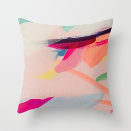 Wild Ones #2 - abstract painting Throw Pillow