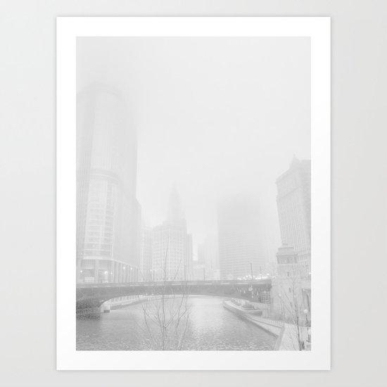 cloud chicago Art Print