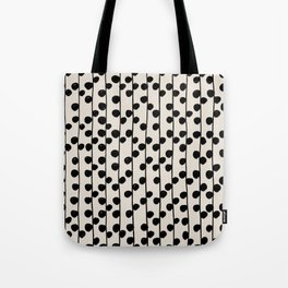 Dots / Black & White Pattern Tote Bag