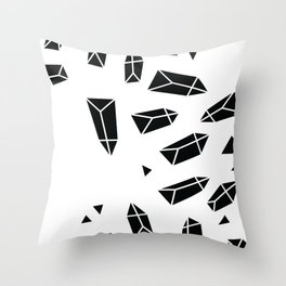Black Crystals Throw Pillow