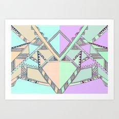 Aztec print illustration Art Print