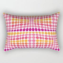 Dottywave - Pink Orange wave dots pattern Rectangular Pillow