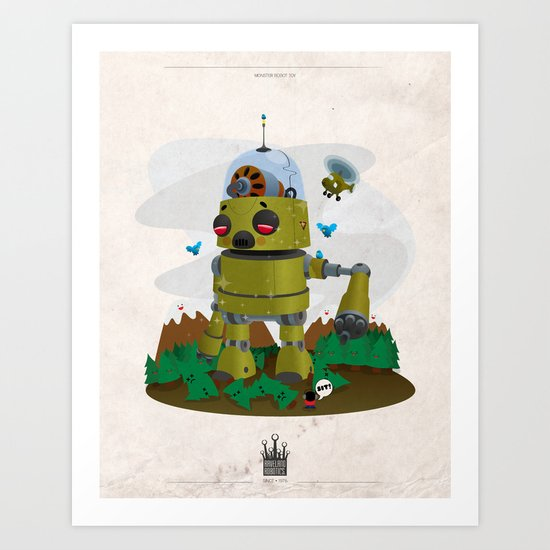 Monster robot toy Art Print