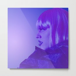 Marina Mac Purple Lipstick Metal Print