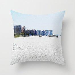 South Side of Marco Island, Florida Beach Throw Pillow