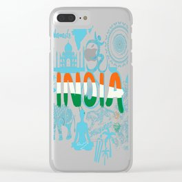 Welcome-to-India. Clear iPhone Case