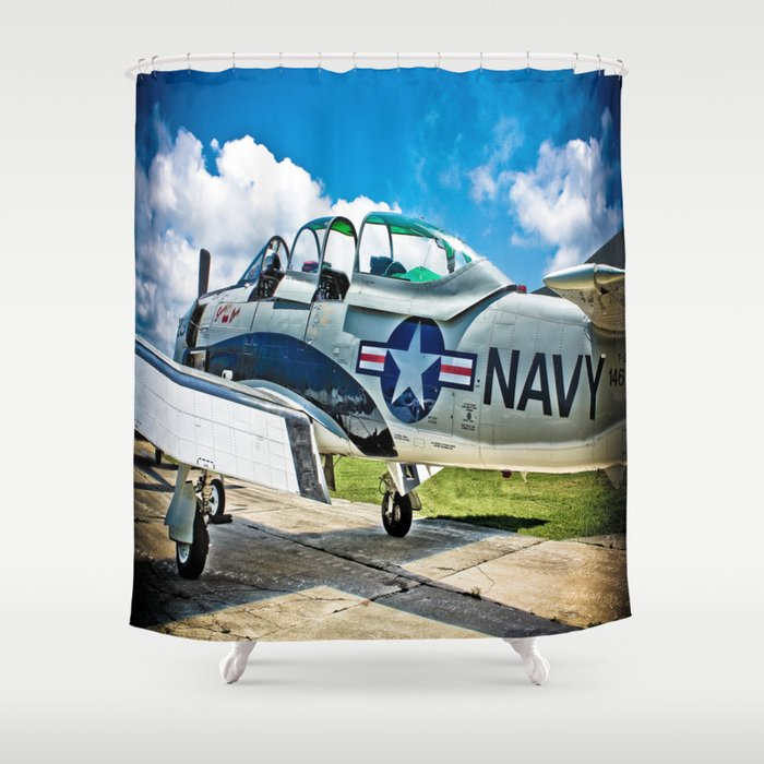 US Navy Airplane Shower Curtain