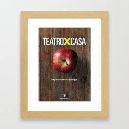 Teatroxcasa (mela) Framed Art Print