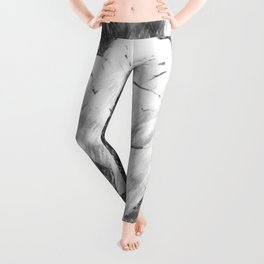 Pink Roses in Anzures 6 Charcoal Leggings