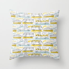 Wanderlust on the road Throw Pillow
