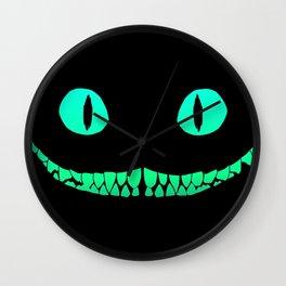 Cheshire black smile Wall Clock