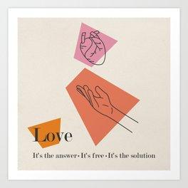 Love: Sixties Art Print