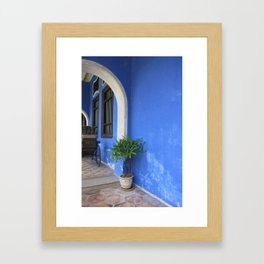Blue Mansion in Penang, Malaysia (2013f) Framed Art Print