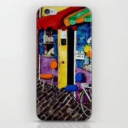 Artist Avenue French France Paris Art Shops Flowers Wine Doors Shutters Street Homes Bike Bicycle iPhone Skin