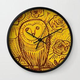 boreal owl Wall Clock
