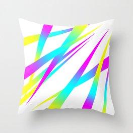 Spikes CYMK (white) Throw Pillow