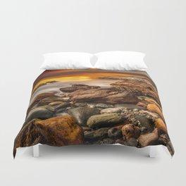 Rhoscolyn Coastline Sunset Duvet Cover