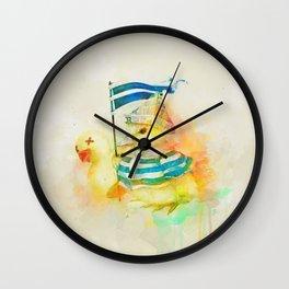 Duck War Wall Clock